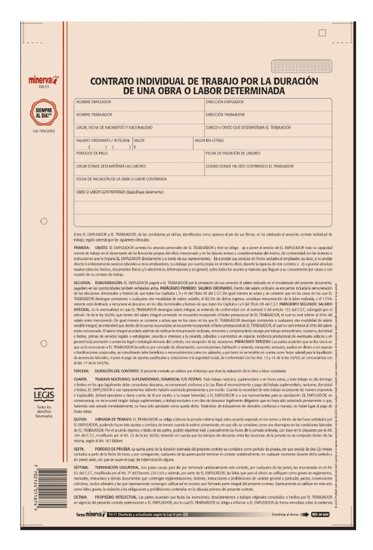 Papeler a modelo contrato termino fijo 1 a 3 a os for Contrato de arrendamiento de oficina