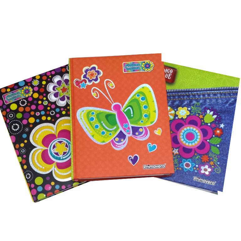 Papeler a modelo cuaderno 7 materias pasta dura femenino - Marcas de agendas ...